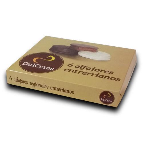 Caja 6 alfajores chocolate